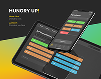 Hungry Up! Cooking app concept.