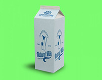 Milk Packaging Box Mockup PSD Free Download