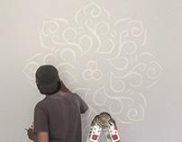 Mandala Mural for Rumah Putih