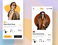 Ecommerce Fashion Shop Page Mobile User InterfaceDesign
