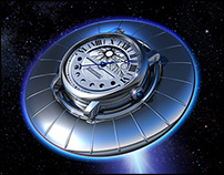 Watches in Space ~ 3D CGI