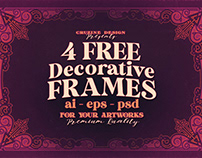 4 Linear Decorative - Free Frames