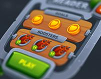 Tropical game UI