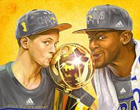 2015 NBA CHAMPIONS Curry & Iguodala