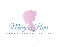Marys Hair Stylist Logo Design, Website & Business Card