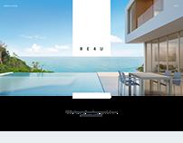 RE4U landing page design