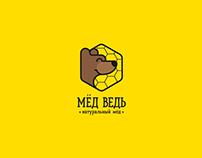 Logo / MedVed'/ natural honey