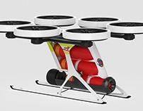 Fire extinguish drone concept