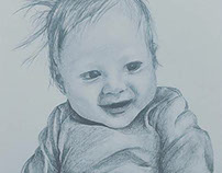 Nephew Charcoal Portrait
