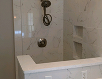 Work Portfolio- Carrera Marble Shower