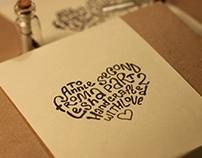 Handwritten Loveletters Package Typography