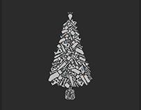 Festive Man Tree Christmas Card Design 2017