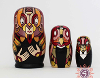 Triple Matryoshka