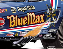 Blue Max 1976 Funny Car - Adobe Illustrator
