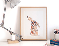 Be My Bunny Art Prints
