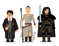 Characters of Famous Franchises for Study App