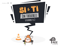 Si & Ti in trouble - Stickers