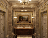 Classic guest bathroom design at con-creative office