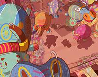 Ilustrações / Illustrations - A Estranha Revoada