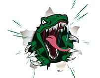 velociraptor logo, dinosaur