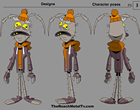 Roach Motel Character designs and Promo art