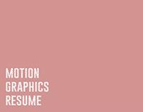 Motion Graphics Resume