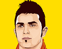 David Villa Vector Art