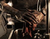Hands of a mechanic