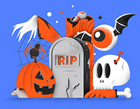 HALLOWEEK! A series of scary illustrations