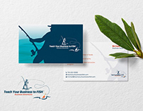 Teach your Business to Fish Card Design