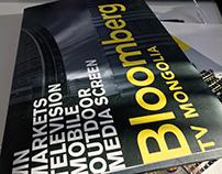 Bloomberg TV Mongolia - Print design