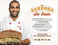 Campanha para doação de sangue - Sanduba do Bem