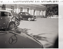 Vintage cars (b&w 110 film)