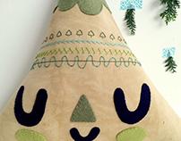 "Textile art toys ""La Tierra"""