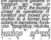 venus typeface posters