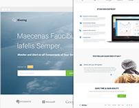 Cloudsblazingapp Landing Page Design