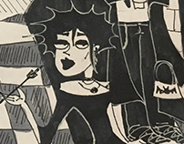 Goths Banner Illustration