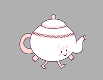 Walking teapot