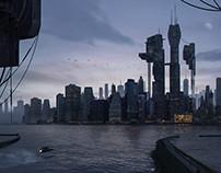 Matte Painting - future city