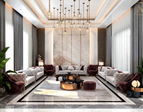 Luxury reception design in Kuwait City