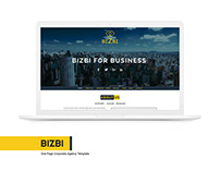 BIZBI - One page corporate Template