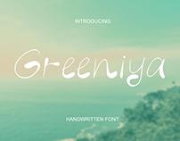 Greeniya handwritten font