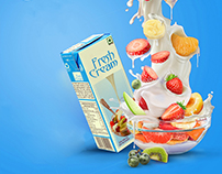 Fruit Cream Advertisment (Spec Work)