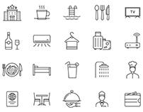 Hotel & Restaurant Icons