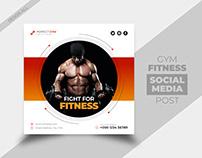 Gym fitness builder social media post template