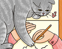 Illustrations witn cats