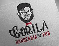 Barbearia & Pub Gorila - Branding