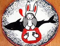 LOVE IS HARD - art on plates