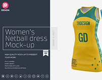 Women's Netball Dress Mockup V2