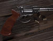 Vintage hand gun 3DCG project